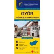 Győr várostérkép (+Győr-Moson-Sopron megye tkp.)