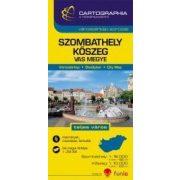 Szombathely, Kőszeg várostérkép (+Vas megye tkp.)