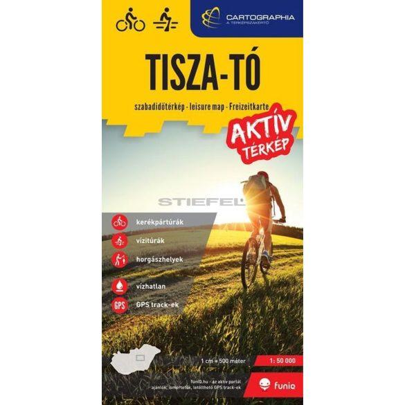 Tisza-tó aktív térkép (kerékpáros-, vízi- és horgásztérkép)