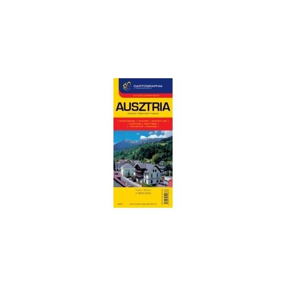 Ausztria autótérkép
