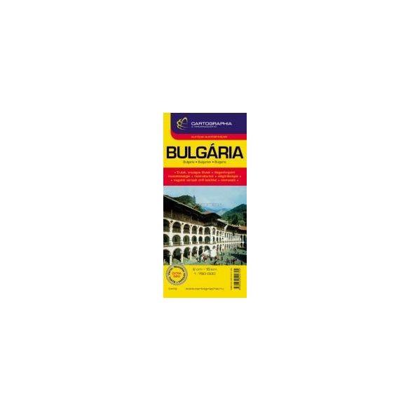 Bulgária autótérkép