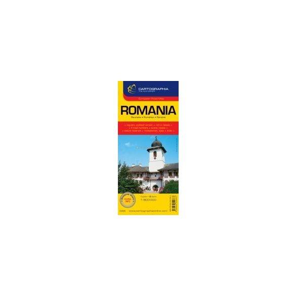 Románia autótérkép