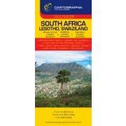Dél-Afrika, Lesotho, Szváziföld térkép