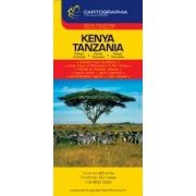 Kenya, Tanzánia térkép