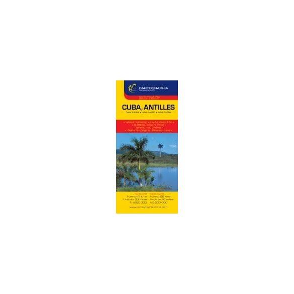 Kuba, Antillák térkép