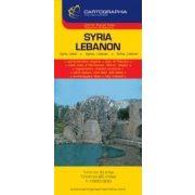 Szíria, Libanon térkép