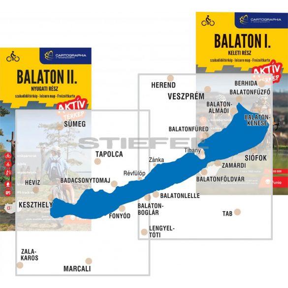 Balaton I. aktív térkép - keleti rész