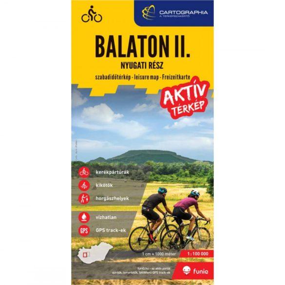 Balaton II. aktív térkép - nyugati rész
