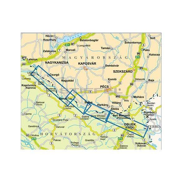 Dráva vízisport és kerékpáros térkép