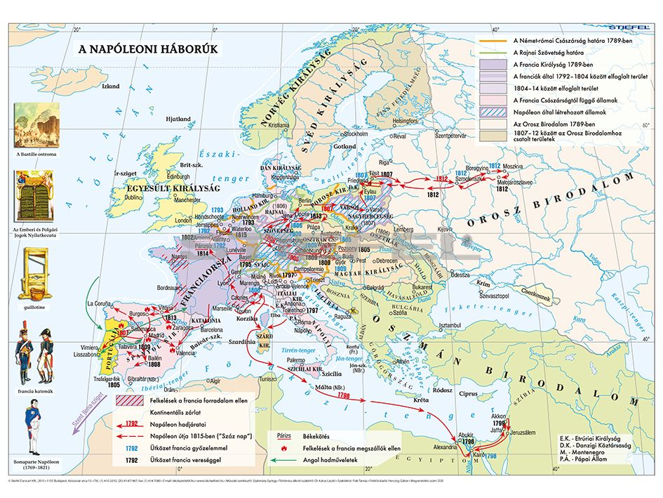 Europa A Francia Forradalom Es A Napoleoni Haboruk Idejen