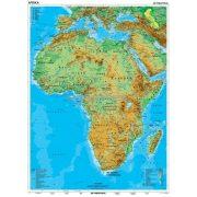 Afrika, domborzati térkép