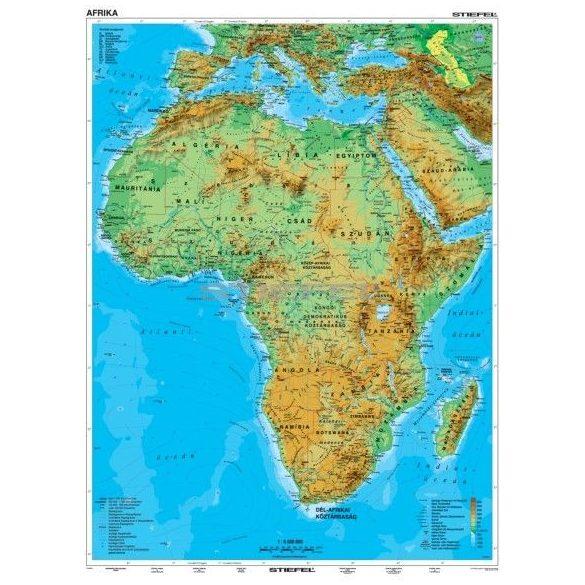 Afrika Domborzati Terkep Mindentudas Boltja