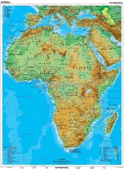 európa afrika térkép Afrika, domborzati térkép   Mindentudás Boltja európa afrika térkép
