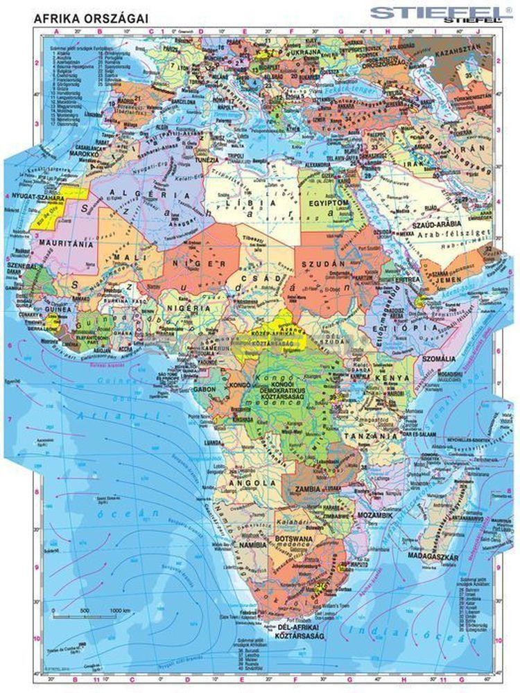 Afrika Terkep Orszagokkal Groomania