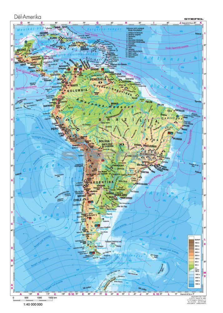 dél amerika domborzati térkép Dél Amerika domborzata dél amerika domborzati térkép