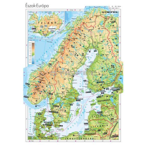 Észak-Európa domborzata
