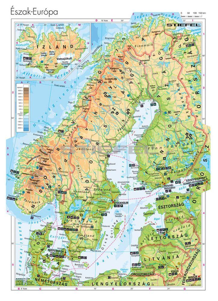 térkép észak európa Észak Európa domborzata   Mindentudás Boltja térkép észak európa