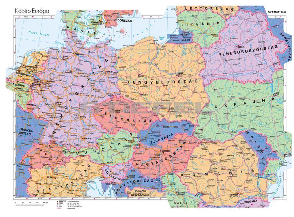 közép európa térkép Közép Európa országai közép európa térkép