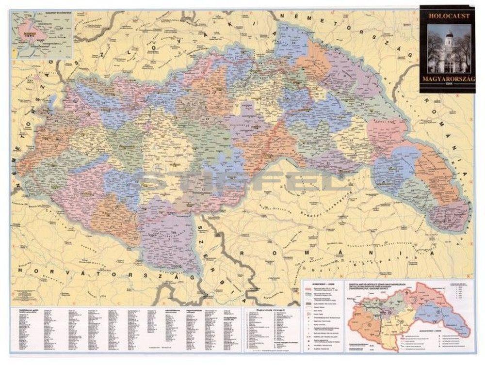 magyarország térkép 1944 Magyarország közigazgatása 1944 ben és a Holocaust magyarország térkép 1944