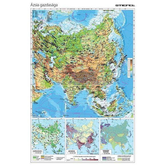 Ázsia gazdasága tanulói kézitérkép (A3)