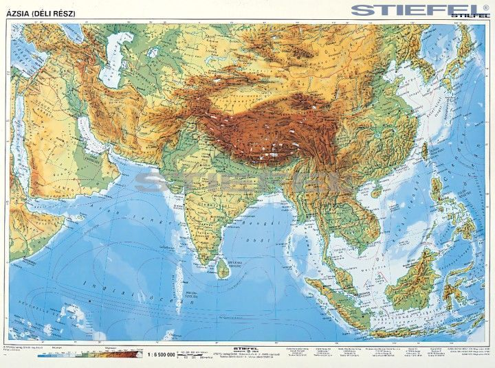 ázsia térkép domborzati Nyugat  és Dél Ázsia domborzata ázsia térkép domborzati