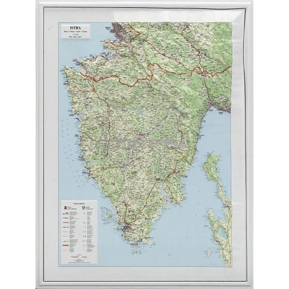 Isztria dombortérképe