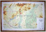 Magyarország általános földrajzi dombortérképe