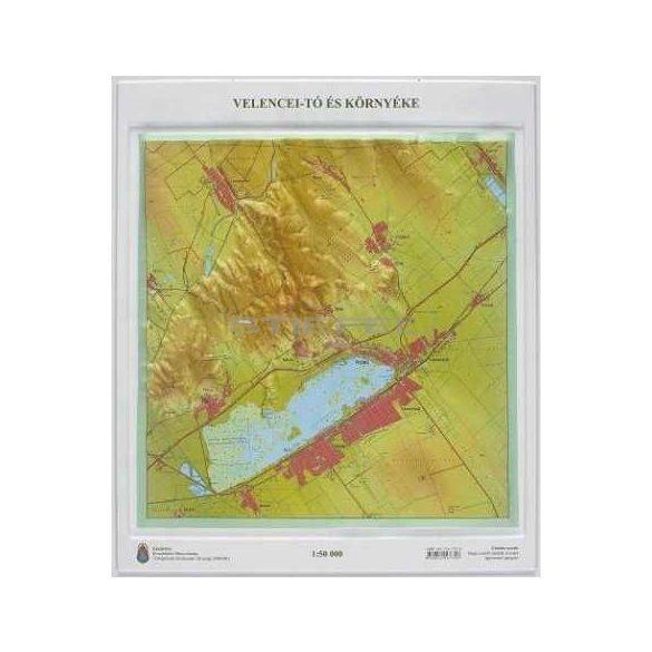 Velencei-tó és környéke dombortérképe