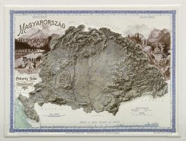 Magyarország domborzata és vizei fakszimile dombortérképe