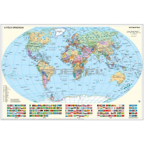 A Föld országai kétoldalas mini falitérkép (hátoldalon: gyerek világtérkép)