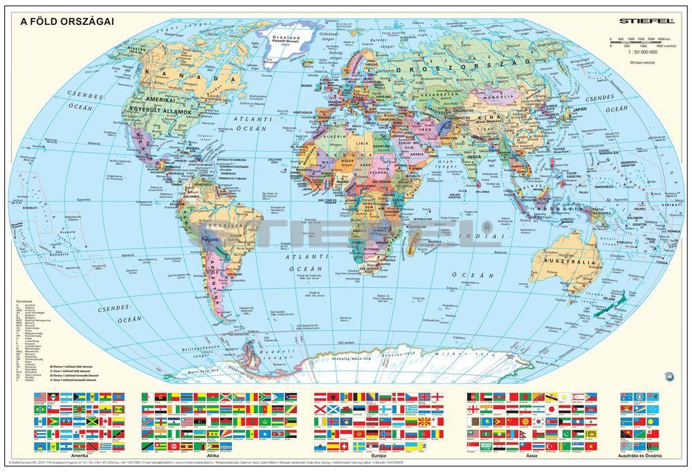 földgömb térkép A Föld országai térkép/Gyermek világtérkép könyöklő
