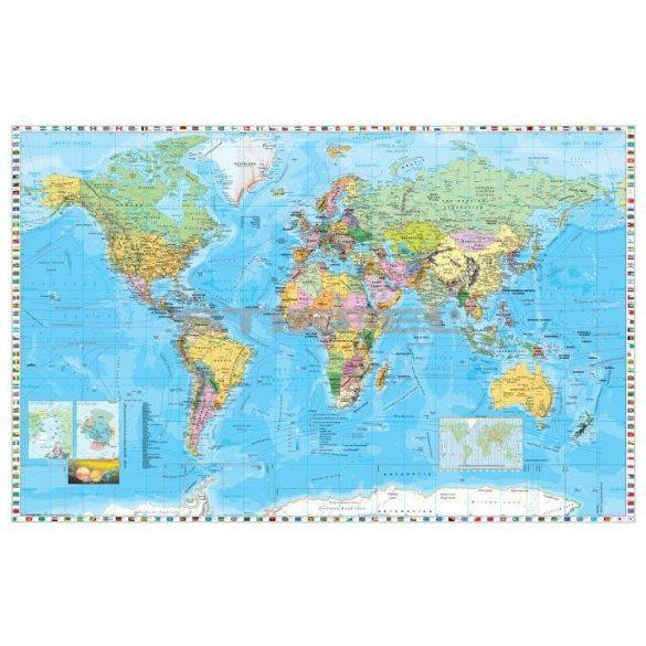 A Föld országai angol nyelvű kisméretű térkép