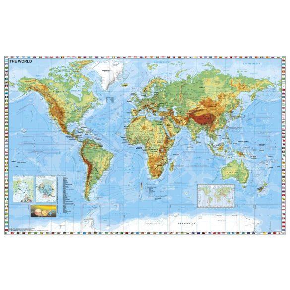 A Föld országai térkép/Közép-Európa autótérkép könyöklő