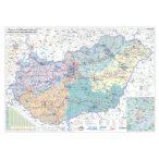 Magyarország villamoshálózati faléces térképe