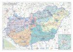 Magyarország villamoshálózati keretezett térképe