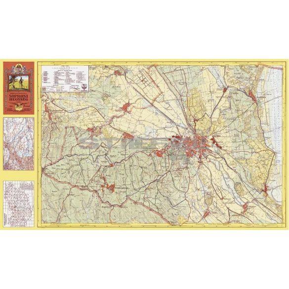 Soproni hegység térképe (1931)