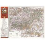 Mecsek hegység térképe (1929)