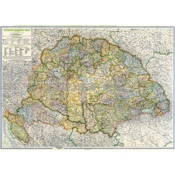 Magyarország közigazgatása térkép (Kogutowitz, 1942)