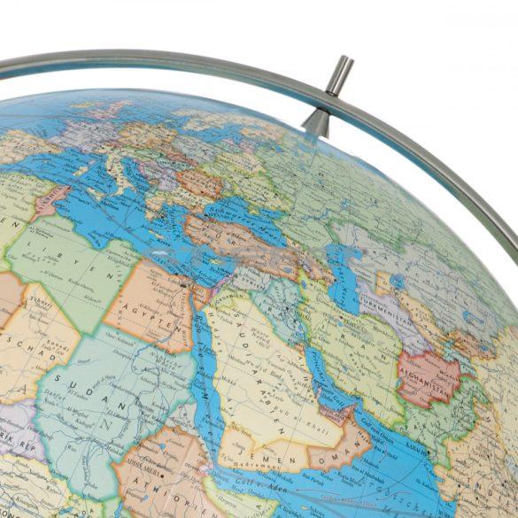 COLUMBUS DUO MAGNUM világítós, álló, polietilén földgömb, rozsdamentes acél talppal és meridiánnal Ø 100  cm