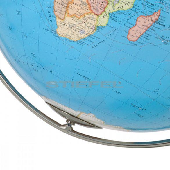 COLUMBUS DUO MAGNUM világítós, álló, polietilén földgömb, rozsdamentes acél talppal és meridiánnal Ø 200  cm