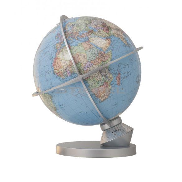 COLUMBUS DUO Planet Earth, világítós, asztali, akril, DUO földgömb, rozsdamentes acél talppal és műanyag meridiánnal Ø 34  cm