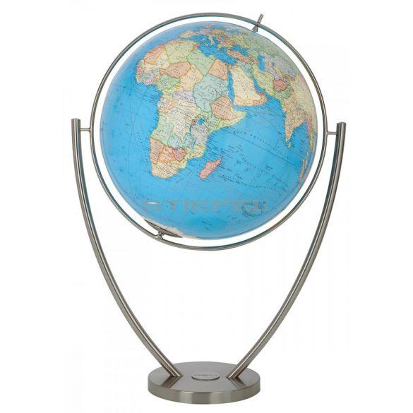 COLUMBUS DUO MAGNUM világítós, álló, polietilén földgömb, rozsdamentes acél talppal és meridiánnal Ø 77  cm