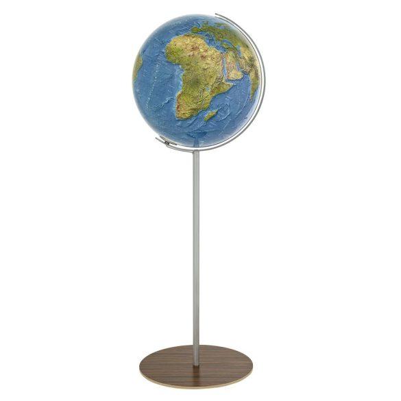 COLUMBUS DUORAMA világítós, álló, akril földgömb, fa alappal és rozsdamentes acél meridiánnal Ø 40  cm