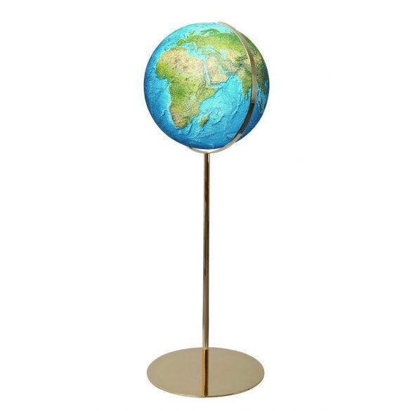 COLUMBUS DUORAMA világítós, álló, akril földgömb, sárgaréz alappal és meridiánnal Ø 40  cm