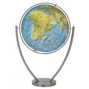 COLUMBUS DUO RAMA világítós, álló, polietilén földgömb, rozsdamentes acél talppal és meridiánnal Ø 77  cm