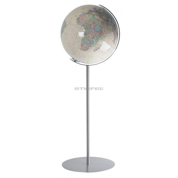 COLUMBUS ROYAL világítós, álló, akril földgömb, rozsdamentes acél alappal és meridiánnal Ø 40  cm