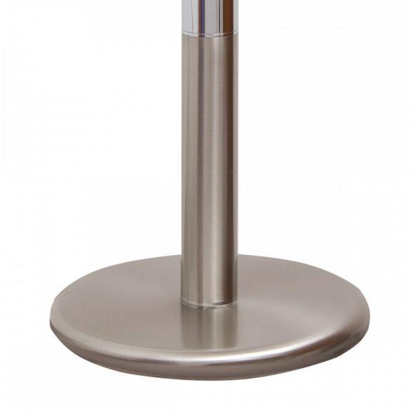 COLUMBUS ROYAL világítós, álló, kristályüveg földgömb, rozsdamentes acél alappal és meridiánnal Ø 40  cm