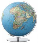 COLUMBUS SWAROWSKI világítós, DUO, akril. asztali földgömb, rozsdamentes acél talppal és meridiánnal