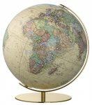COLUMBUS SWAROWSKI ROYAL, világítós, asztali, akril földgömb, sárgaréz alappal és meridiánnal
