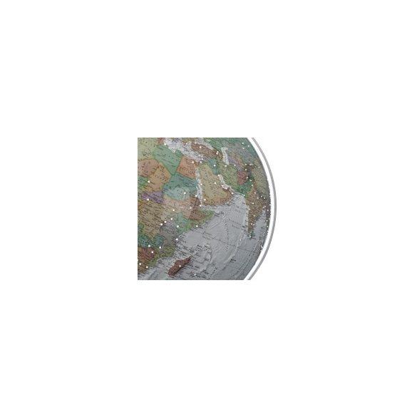 COLUMBUS SWAROVSKI DUO ALBA, világítós, akril földgömb, Swarovski kövekkel, rozsdamentes acél talppal és meridiánnal